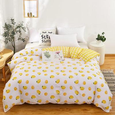 2020新款12868纯棉单品被套全棉 150x200cm 一颗柠檬