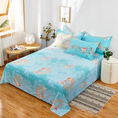 单品床单2021新款12868纯棉单品直角床单全棉 230cmx250cm 爱丽丝蓝