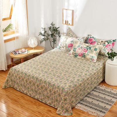 单品床单2021新款12868纯棉单品直角床单全棉 230cmx250cm 花舞佳人