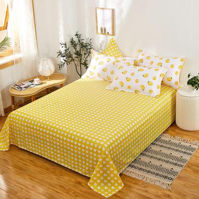 单品床单2021新款12868纯棉单品直角床单全棉 230cmx250cm 一颗柠檬