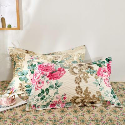 全棉多规格系列(单品枕套)全棉枕套  一对装 48cmX74cm --2个装 花舞佳人