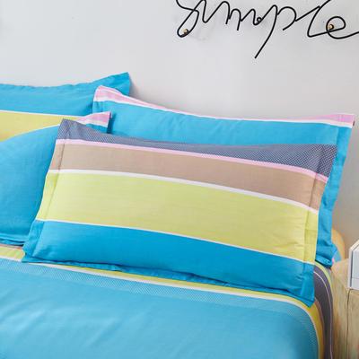 单品枕套2020新款12868纯棉单品枕套48*74cm 48cmX74cm/对 快乐空间