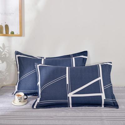全棉多规格系列(单品枕套)全棉枕套  一对装 48cmX74cm --2个装 蓝韵阁
