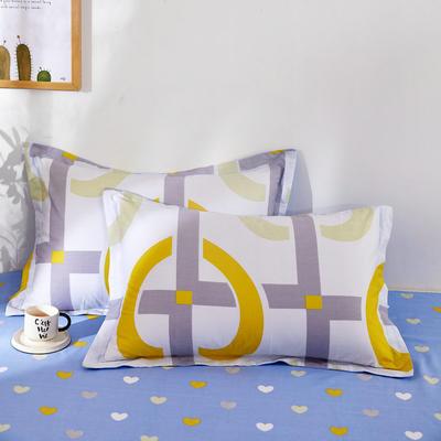 全棉多规格系列(单品枕套)全棉枕套  一对装 48cmX74cm --2个装 暖暖时光