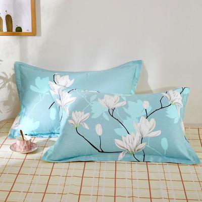 全棉多规格系列(单品枕套)全棉枕套  一对装 48cmX74cm --2个装 如梦花季
