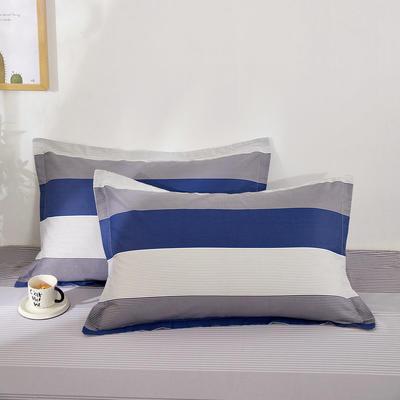 全棉多规格系列(单品枕套)全棉枕套  一对装 48cmX74cm --2个装 绅士之约