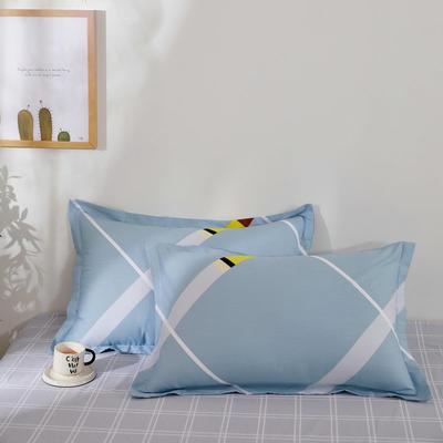 全棉多规格系列(单品枕套)全棉枕套  一对装 48cmX74cm --2个装 午后闲暇