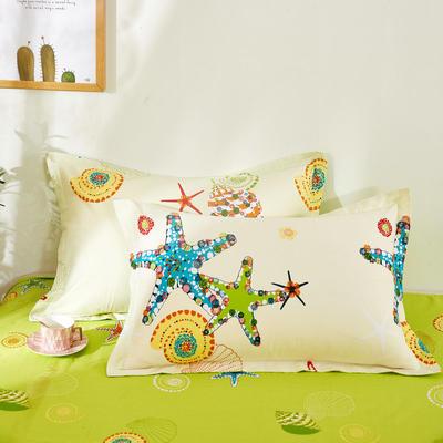 全棉多规格系列(单品枕套)全棉枕套  一对装 48cmX74cm --2个装 夏威夷