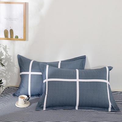 全棉多规格系列(单品枕套)全棉枕套  一对装 48cmX74cm --2个装 休闲午后