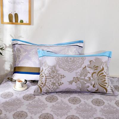 全棉多规格系列(单品枕套)全棉枕套  一对装 48cmX74cm --2个装 北美风情