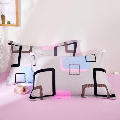 全棉多规格系列(单品枕套)全棉枕套  一对装 48cmX74cm --2个装 彩云格
