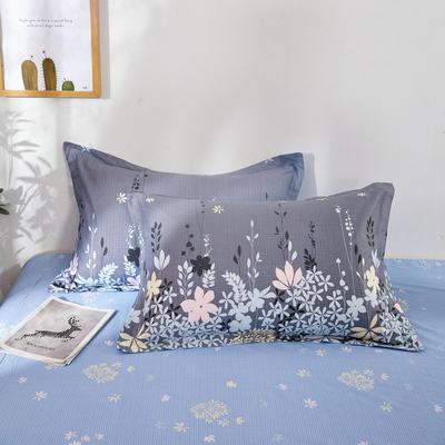 全棉多规格系列(单品枕套)全棉枕套  一对装 48cmX74cm --2个装 迷迭香