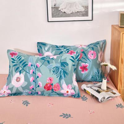 单品枕套2021新款12868全棉系列 48*74cm/对 暗香 绿