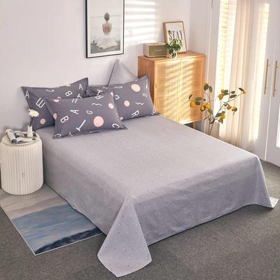 单品床单2021新款12868全棉系列 230cmx250cm 英文空间 灰