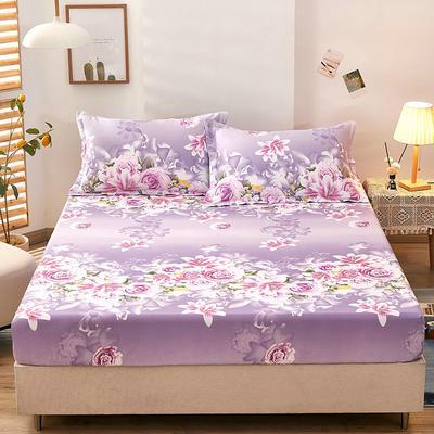 全棉单品床笠2021新款12868 180cmx200cm 爱的花海-紫