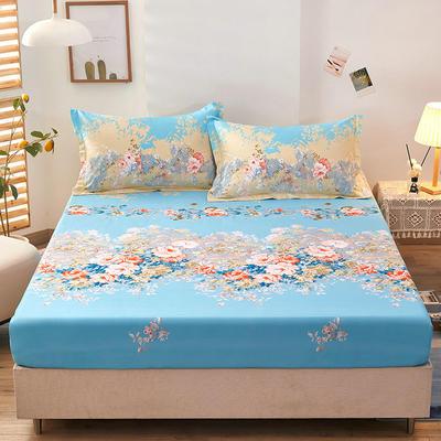 全棉单品床笠2021新款12868 180cmx200cm 爱丽丝-蓝