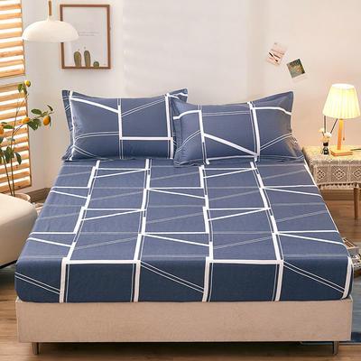 全棉单品床笠2021新款12868 180cmx200cm 蓝韵阁