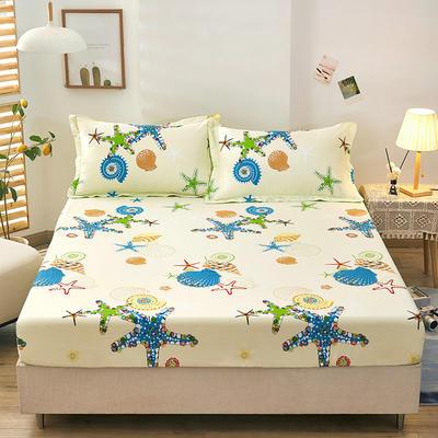 全棉单品床笠2021新款12868 180cmx200cm 夏威夷