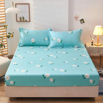 全棉单品床笠2021新款12868 180cmx200cm 小雏菊-蓝