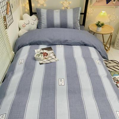 2021新款13372全棉三件套 床单式三件套 时尚范 灰