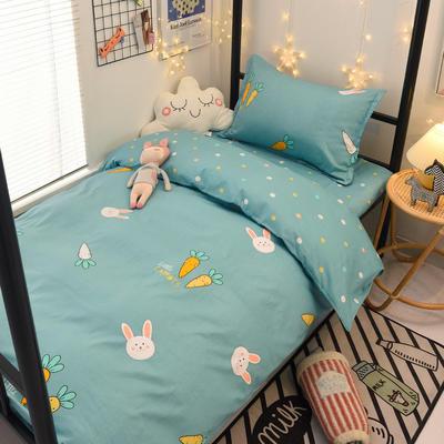 2021新款13372全棉三件套 床单式三件套 兔乐园