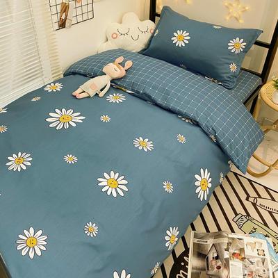 2021新款13372全棉三件套 床单式三件套 阳光 蓝
