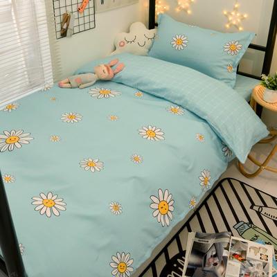 2021新款13372全棉三件套 床单式三件套 阳光 绿