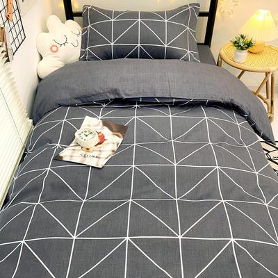 2021新款13372全棉三件套 床单式三件套 怡然