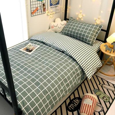 2021新款13372全棉三件套 床单式三件套 优雅格调 绿