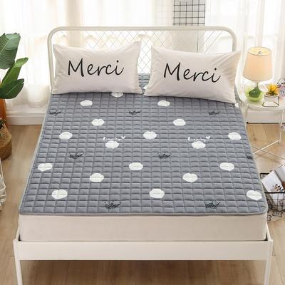 2020新品 全棉印花床垫 地垫爬爬垫 可定制尺寸 纯棉多功能四季床垫 可机洗 1.0*2 贝蒂灰
