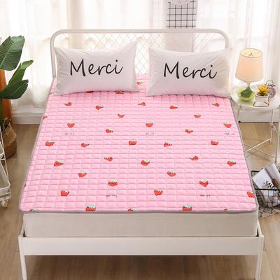 2020新品 全棉印花床垫 地垫爬爬垫 可定制尺寸 纯棉多功能四季床垫 可机洗 1.0*2 粉色草莓
