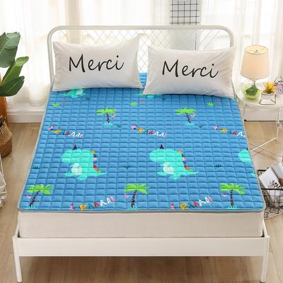 2020新品 全棉印花床垫 地垫爬爬垫 可定制尺寸 纯棉多功能四季床垫 可机洗 1.0*2 恐龙乐园