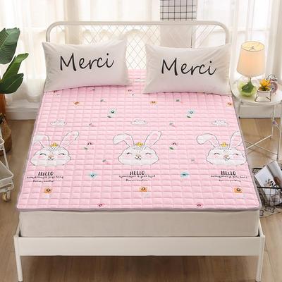 2020新品 全棉印花床垫 地垫爬爬垫 可定制尺寸 纯棉多功能四季床垫 可机洗 0.9*2 萌兔宝