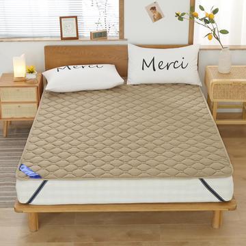 2020新品 全棉床垫 纯色防滑床垫 可定制尺寸 纯棉多功能四季床垫 可机洗