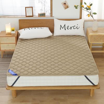 2020新品 全棉床垫 纯色防滑床垫 可定制尺寸 纯棉多功能四季床垫 可机洗 0.9x2.0m 典雅棕