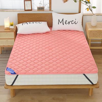 2020新品 全棉床垫 纯色防滑床垫 可定制尺寸 纯棉多功能四季床垫 可机洗 0.9x2.0m 浪漫玉