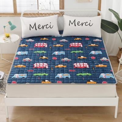 2020新品 全棉印花床垫 地垫爬爬垫 可定制尺寸 纯棉多功能四季床垫 可机洗 1.0*2 宝宝巴士