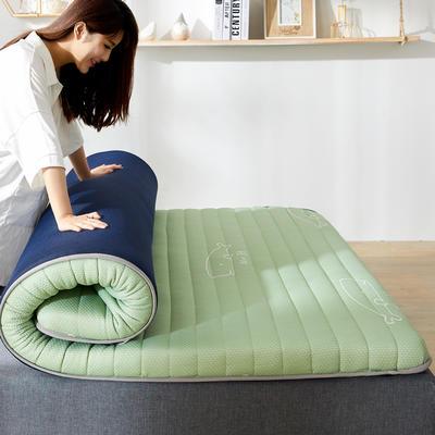 2020年新款防塌陷乳胶记忆海棉床垫 针织棉健康舒适床垫 0.9x1.9米 豆蔻绿5cm