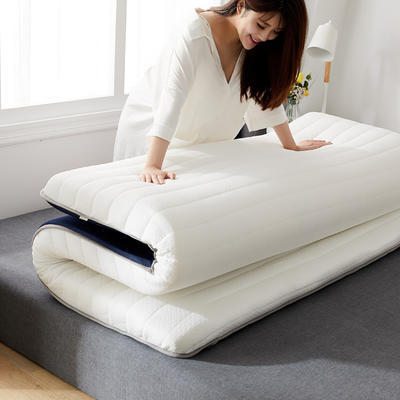 2020年新款防塌陷乳胶记忆海棉床垫 针织棉健康舒适床垫 0.9x1.9米 皎月白5cm