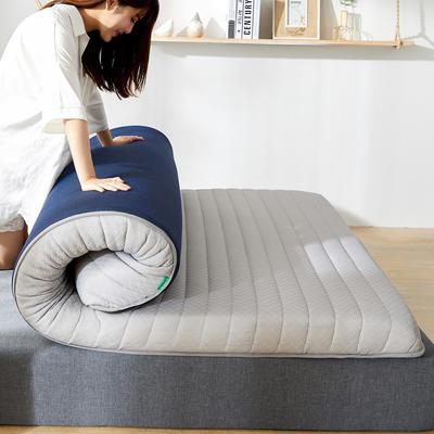 2020年新款防塌陷乳胶记忆海棉床垫 针织棉健康舒适床垫 0.9x2.0米 经典灰5cm