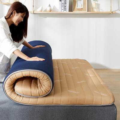 2020年新款防塌陷乳胶记忆海棉床垫 针织棉健康舒适床垫 0.9x2.0米 秋羽黄5cm