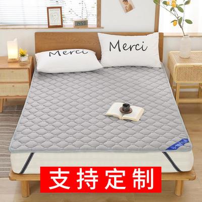 2020新品 全棉床垫 纯色防滑床垫 可定制尺寸 纯棉多功能四季床垫 可机洗 0.9x2.0m 经典灰