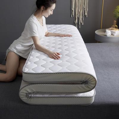 2020新款全棉乳胶海绵立体床垫 0.9x1.9米-5cm 白色