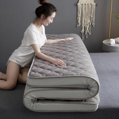 2020新款全棉乳胶海绵立体床垫 0.9x1.9米-5cm 灰色