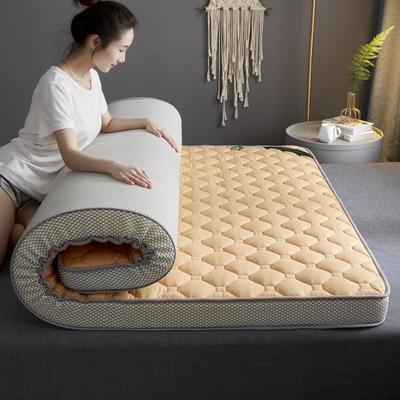 2020新款全棉乳胶海绵立体床垫 0.9x1.9米-5cm 驼色