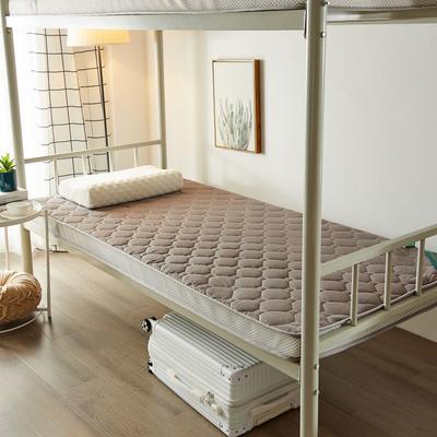 2020新品学生床垫 乳胶床垫 全棉面料海绵床垫 不变形 可回弹 可定制 0.9x2.0米-5cm 灰色