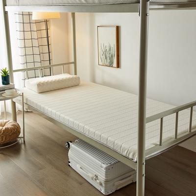 2020新品学生床垫 乳胶床垫 针织棉面料海绵床垫 不变形 可回弹 可定制 0.9x2.0米-5cm 皎月白