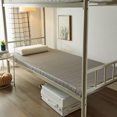 2020新品学生床垫 乳胶床垫 针织棉面料海绵床垫 不变形 可回弹 可定制 0.9x2.0米-5cm 经典灰