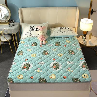 2020新款牛奶绒床垫 网红热款床垫 防滑可机洗保暖床褥子 防滑地垫 支持定制 0.9x2.0m 呆萌恐龙