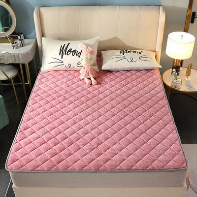 2020新款牛奶绒床垫 网红热款床垫 防滑可机洗保暖床褥子 防滑地垫 支持定制 0.9x2.0m 粉色
